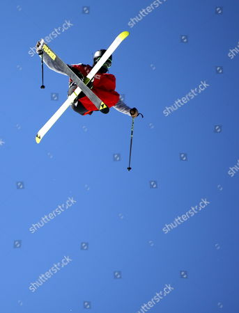 Joss Christensen of Usa in Action During the Men's Freestyle Skiing Slopestyle Final in the Rosa Khutor Extreme Park at the Sochi 2014 Olympic Games Krasnaya Polyana Russia 13 February 2014 Russian Federation Krasnaya Polyana