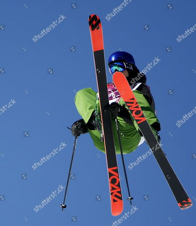 Markus Eder of Italy in Action During the Men's Freestyle Skiing Slopestyle Qualification in the Rosa Khutor Extreme Park at the Sochi 2014 Olympic Games Krasnaya Polyana Russia 13 February 2014 Russian Federation Krasnaya Polyana