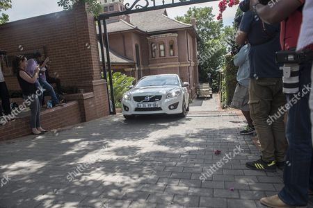 A Car Driven by Aimee Pistorius is Seen Leaving the House of Oscar Pistorius's Uncle in Pretoria South Africa 20 October 2015 the South African Paralympic Athlete was Released Early Over Night on Parol While Serving a Five Year Sentence For Shooting Dead His Girlfriend Model Reeva Steenkamp the Correctional Services Released Pistorius Secretly the Night Before His Intended Release Date to Avoid Media Attention Pistorius was Acquitted of the Premeditated Murder of His Model Girlfriend Reeva Steenkamp in February 2013 But Found Guilty of Culpable Homicide (manslaughter) South Africa Pretoria