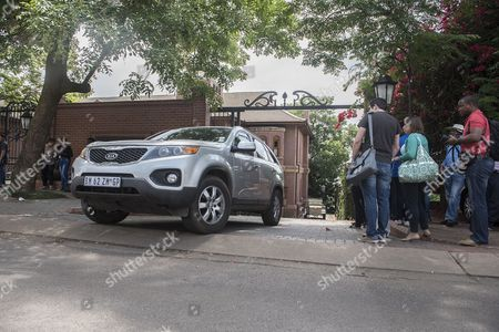 Stock Photo of A Car Driven by Aimee Pistorius is Seen Leaving the House of Oscar Pistorius's Uncle the South African Paralympic Athlete was Released Early Over Night on Parol While Serving a Five Year Sentence For Shooting Dead His Girlfriend; Model Reeva Steenkamp; in Pretoria; South Africa; 20 October 2015 the Correctional Services Released Pistorius Secretly the Night Before His Intended Release Date to Avoid Media Attention Pistorius was Acquitted of the Premeditated Murder of His Model Girlfriend Reeva Steenkamp in February 2013 But Found Guilty of Culpable Homicide (manslaughter) Epa/shiraaz Mohamed South Africa Pretoria