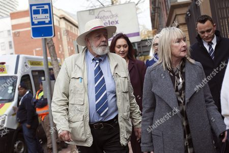 Barry (l) and June (r) Steenkamp the Parents of Reeva Steenkamp Arrive For the Sentencing of the South African Paralympian Oscar Pistorius at the Gauteng North High Court in Pretoriasouth Africa 14 June 2016 Others Are not Identified Barry Steenkamp Stood As Witness Against Pistorius on the Second Day of Sentencing For the Murder of Reeva Steenkamp in February 2013 the Supreme Court of South Africa Overturned the High Court's Verdict in December 2015 where Oscar Pistorius Now Faces Sentencing For the Murder of His Girlfriend Reeva Steenkamp on 13 February 2013 South Africa Pretoria