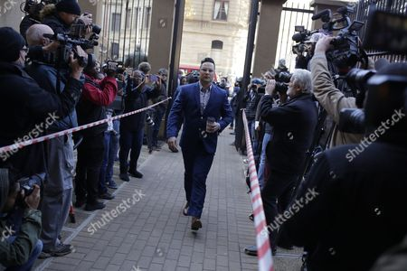 Carl Pistorius (c) Arrives at the North Gauteng High Court in Pretoria For His Brother Oscar Pistorius's Sentencing For Murder Charges in Pretoria South Africa 06 July 2016 the Supreme Court of South Africa Overturned the High Court's Verdict in December 2015 with South African Paralympian Oscar Pistorius Now Facing Sentencing For Murder of His Girlfriend Reeva Steenkamp on 14 February 2013 South Africa Pretoria