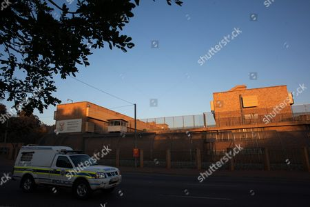 The Outside of Kgosi Mampuru Correctional Facility in Pretoria South Africa 06 July 2016 South African Paralympian Oscar Pistorius Will Spend Serving a Sentence in the Facility After Being Sentenced to 6 Years For the Murder of His Girlfriend Reeva Steenkamp in February 2013 Pistoriuss High Court Conviction was Overturned by the South African Supreme Court in December 2015 with a Heavier Charge of Murder Subsequently Issued South Africa Pretoria