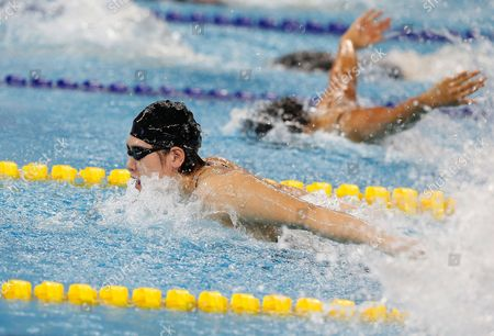 Ye Shiwen (front) of China is on Her Way to Win the Gold Medal in the Women's 200m Individual Medley Final During the Swimming Competitions at the 17th Incheon Asian Games at the Munhak Aquatics Center in Incheon South Korea 26 September 2014 Korea, Republic of Incheon