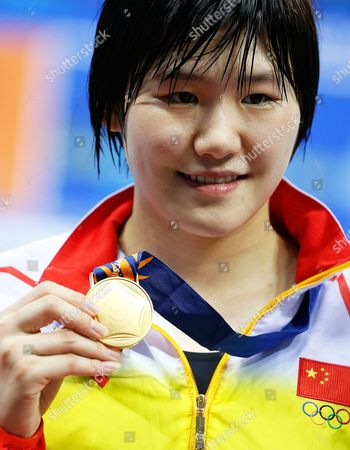 Ye Shiwen of China Poses with Her Gold Medal After Winning the Women's 200m Backstroke Final During the Swimming Competitions at the 17th Incheon Asian Games at the Munhak Aquatics Center in Incheon South Korea 26 September 2014 Korea, Republic of Incheon