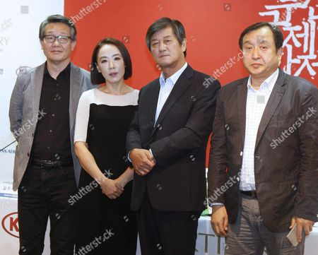 (l-r) Executive Programmer Kim Ji-seok Film Festival Directors Kang Soo-youn Lee Yong-kwan and Busan International Film Festival Steering Committee Director Jay Jeon Pose For Pictures During a Press Conference in Seoul South Korea 25 August 2015 the 20th Busan International Film Festival Will Run From 01 to 10 October Korea, Republic of Seoul