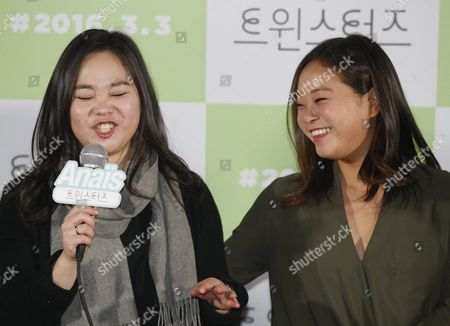 South Korean-french Fashion Designer Actress and Cast Member Anais Bordier(l) and South Korean-us Actress Director and Cast Member Samantha Futerman (r) Speak During a Press Conference on 'Twinsters' in Seoul South Korea 24 February 2016 the Movie Will Open in South Korean Theaters on 03 March Korea, Republic of Seoul