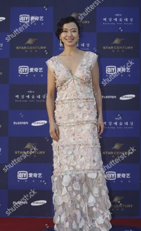South Korean Actress Jeon Do-yeon Arrives For the 52th Annual Baeksang Art Awards at the Kyunghee University in Seoul South Korea 03 June 2016 Korea, Republic of Seoul