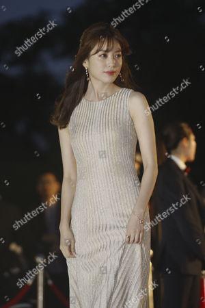 South Korean Actress Han Hyo-joo Arrives For the 52th Annual Baeksang Art Awards at the Kyunghee University in Seoul South Korea 03 June 2016 Korea, Republic of Seoul