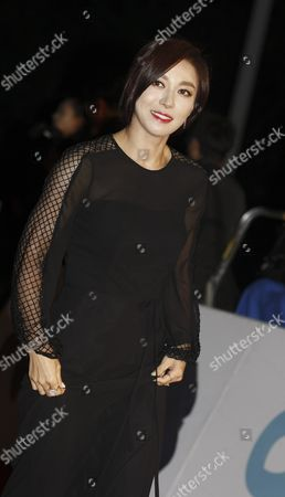 Stock Photo of South Korean Actress Jang Young-nam Arrives For the 36th Blue Dragon Awards at the Kyunghee University in Seoul South Korea 26 December 2015 the Blue Dragon (cheongryong) Awards Are One of the Country's Two Major Awards Korea, Republic of Seoul