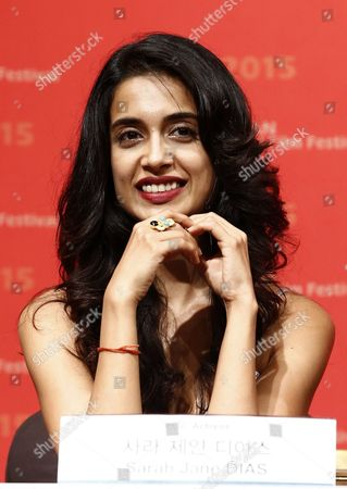 Indian Actress Sarah Jane Dias Attends the Press Conference of the Opening Film 'Zubaan' at the 20th Busan International Film Festival (biff) in Busan South Korea 01 October 2015 the Biff Runs From 01 to 10 October 2015 with 304 Titles From 75 Countries to Be Screened Korea, Republic of Busan