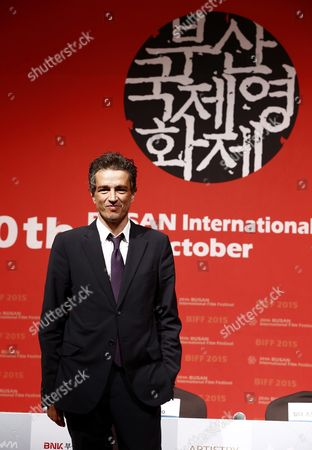 Italian Editor Walter Fasano Poses For Photographers After the Press Conference For 'A Bigger Splash' During the 20th Busan International Film Festival (biff) in the Southeastern Port City of Busan South Korea 02 October 2015 the Biff Runs From 01 to 10 October 2015 with 304 Titles From 75 Countries to Be Screened Korea, Republic of Busan