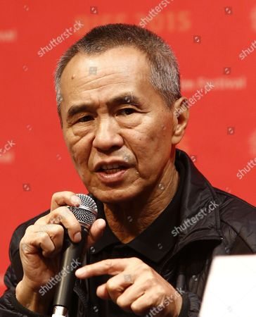 Stock Image of Taiwanese Director Hou Hsiao-hsien Attends the Press Conference For His Movie 'The Assassin' (nie Yin Niang) During the 20th Busan International Film Festival (biff) in the Southeastern Port City of Busan South Korea 02 October 2015 the Biff Runs From 01 to 10 October 2015 with 304 Titles From 75 Countries to Be Screened Korea, Republic of Busan