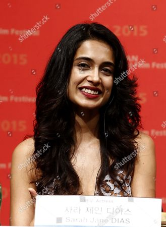 Stock Photo of Indian Actress Sarah Jane Dias Attends the Press Conference of the Opening Film 'Zubaan' at the 20th Busan International Film Festival (biff) in Busan South Korea 01 October 2015 the Biff Runs From 01 to 10 October 2015 with 304 Titles From 75 Countries to Be Screened Korea, Republic of Busan