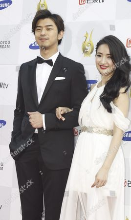 Taiwanese Actors Bolin Chen(l) and Lin Yi-chen (r) Arrive For the 2015 Annual Seoul International Drama Awards in Seoul South Korea 10 September 2015 212 Drama Movies From 48 Countries Participate in the Competition Korea, Republic of Seoul