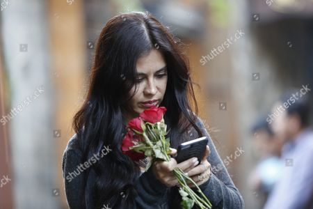 A Picture Made Available on 20 May 2016 Shows Bolivian Actress Carla Ortiz While Touring the Old City of Damascus Syria 19 May 2016 Syrian Arab Republic Damascus