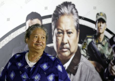 Hong Kong Actor and Film Producer Sammo Hung Reacts During a Press Conference in Taipei Taiwan 31 March 2016 Hung is in Taipei to Promote His New Movie 'The Bodyguard' Taiwan Taipei