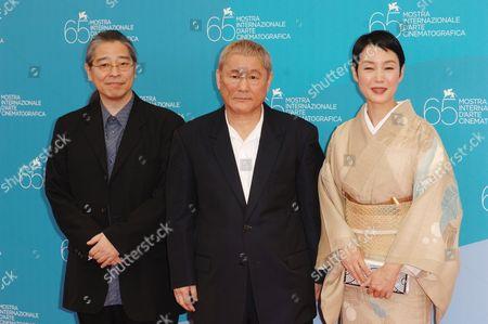 Masayuki Mori, Takeshi Kitano and Kanako Higuchi