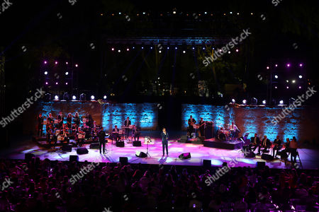 Palestinian Singer Mohammed Assaf who Won 'Arab Idol 2013' Performs During the 51th International Festival of Carthage at the Roman Theatre of Carthage in Tunis Tunisia Late 26 July 2015 Tunisia Tunis