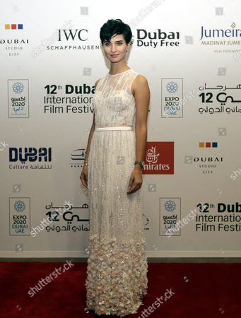 Turkish Actress Tuba Buyukustun Arrives at the Opening Ceremony of the 12th Dubai International Film Festival (diff) 2015 in Gulf Emirate of Dubai United Arab Emirates 09 December 2015 the Diff Runs From 09 Until 16 December United Arab Emirates Dubai