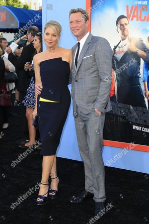 Us Actressand Cast Member Christina Applegate (l) Arrives with Husband Martyn Lenoble For the Los Angeles Premiere of Warner Bros Pictures Movie 'Vacation' at the Regency Village Theatre in Westwood Los Angeles California Usa 27 July 2015 the Movie Opens in the Us on 29 July 2015 United States Los Angeles