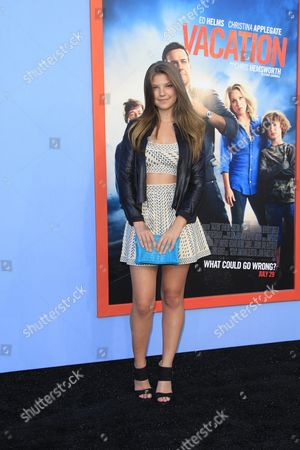 Us Actress/cast Member Catherine Missal Arrives For the Los Angeles Premiere of Warner Bros Pictures 'Vacation' at the Regency Village Theatre in Westwood Los Angeles California Usa 27 July 2015 the Movie Opens in the Us on 29 July 2015 United States Los Angeles