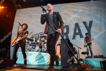 Isaac Slade of the Us Band the Fray Performs at the Klipsch Music Center in Indianapolis Indiana Usa 12 July 2015 United States Indianapolis