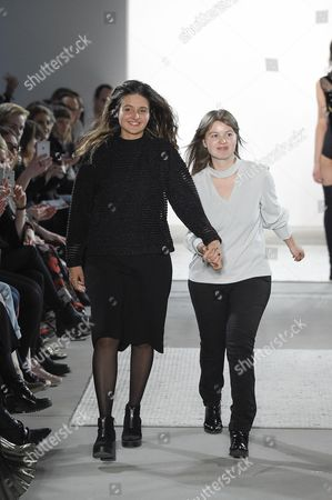 Stock Photo of Caroline Rohner and Inna Stein on the catwalk