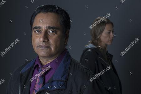 Unforgotten (Series 2, Episode 6) - Rosie Cavaliero as Marion and Sanjeev Bhaskar as Sunny.