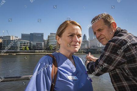 Unforgotten (Series 2, Episode 6) - Rosie Cavaliero as Marion Kelsey and Nigel Lindsay as Tony Kelsey.