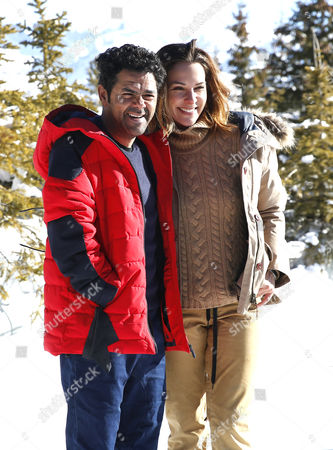 French actor Jamel Debbouze (L) and french TV host Melissa Theuriau (R) pose during the photocall for 'L'embarras du choix' at the 20th annual International Comedy Film Festival, in l'Alpe d'Huez, France, 20 January 2017. The festival runs from 17 to 22 January.