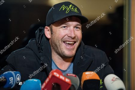 US skier Bode Miller announces his comeback in the next season during a press conference at the FIS Alpine Skiing World Cup in Kitzbuehel, Austria, 20 January 2017.