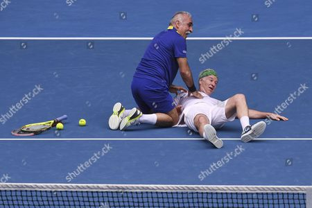 John McEnroe and Fabrice Santoro