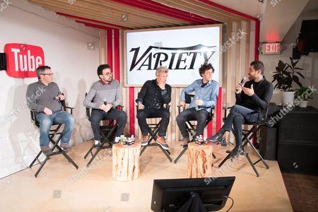Andrew Wallenstein, Gus Sorola, Jamie Byrne, Jonnie Ross and Paul Raphael