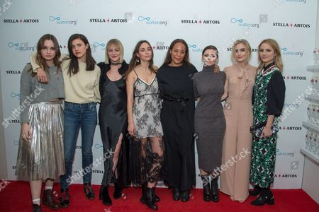 """Liana Liberato, Sarah Margaret Qualley, Morgan Saylor, Rebecca Dayan, Margaret """"Maggie"""" Betts, Eline Powell, Maddie Hasson and Dianna Agron"""