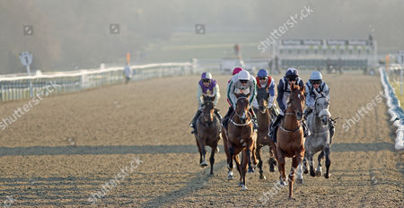 CEYHAN (George Baker) leading the field at Lingfield
