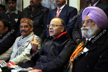Stock Picture of Arun Jaitley and Rajinder Mohan Singh Chhina