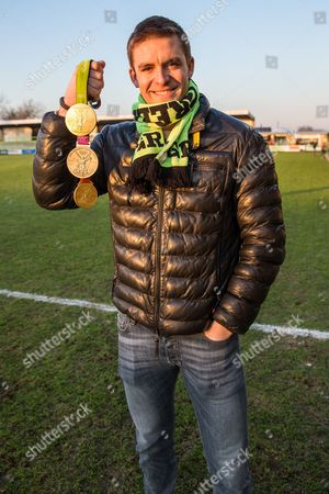 Olympian Peter Reed in attendance at todays match during the Vanarama National League match between Forest Green Rovers and Braintree Town at the New Lawn, Forest Green
