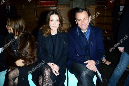 Carla Bruni-Sarkozy, Pierre-Yves Roussel in the front row