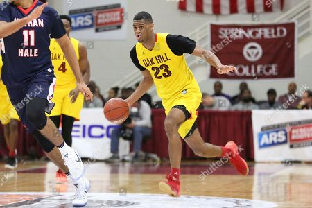 Oak Hill Academy's Billy Preston #23 in action against Nathan Hale during a high school basketball game at the 2017 Hoophall Classic, in Springfield, MA