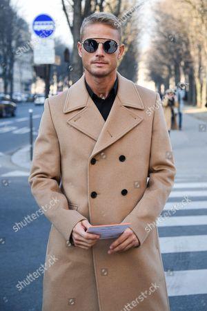 Editorial image of Street Style, Autumn Winter 2017, Paris Fashion Week Men's, France - 21 Jan 2017