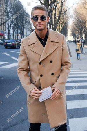 Editorial photo of Street Style, Autumn Winter 2017, Paris Fashion Week Men's, France - 21 Jan 2017