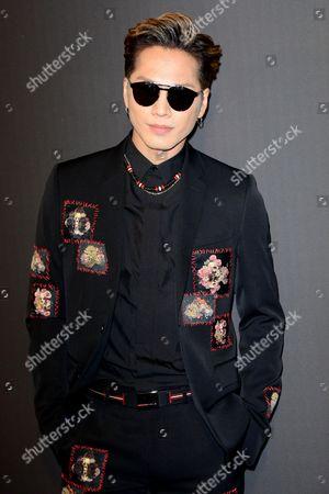Editorial picture of Dior Homme show, Arrivals, Autumn Winter 2017, Paris Fashion Week Men's, France - 21 Jan 2017