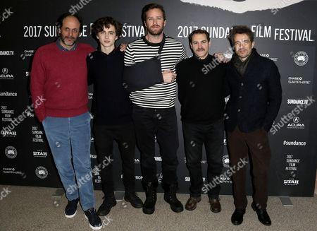 Luca Guadagnino, Timothee Chalamet, Armie Hammer, Michael Stuhlbarg, Walter Fasano
