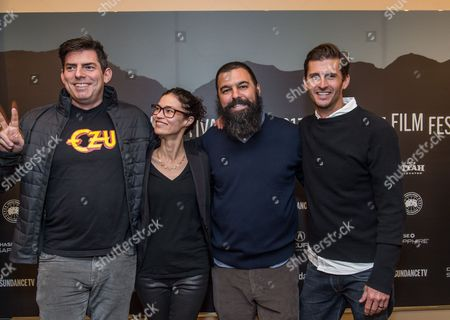 Stock Picture of Chris Weitz, Danielle Renfrew Behrens, Andrew Miano and Guest
