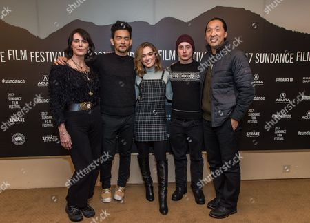 Stock Photo of Michelle Forbes, John Cho, Haley Lu Richardson, Rory Culkin and Kogonada
