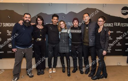 Stock Picture of Andrew Miano, Michelle Forbes, John Cho, Haley Lu Richardson, Rory Culkin, Kogonada and Danielle Renfrew Behrens