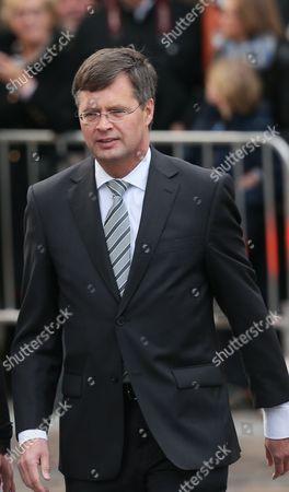 Editorial picture of Belgium People Funeral Martens - Oct 2013