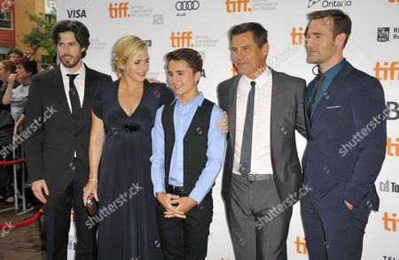 (l-r) Canadian Director Jason Reitman English Actor Kate Winslet Us Actor Gattlin Griffith Us Actor Josh Brolin and Us Actor James Van Der Beek Arrive For the Screening of 'Labor Day' During the 38th Annual Toronto Film Festival in Toronto Canada 07 September 2013 the Festival Runs Until 15 September Canada Toronto