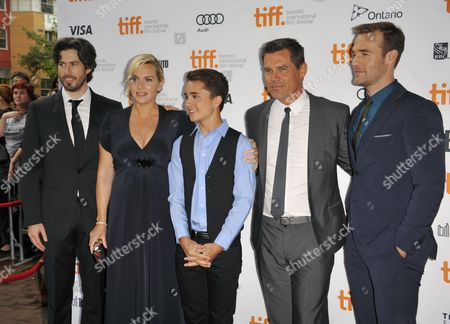 L-r) Canadian Director Jason Reitman English Actor Kate Winslet Us Actor Gattlin Griffith Us Actor Josh Brolin and Us Actor James Van Der Beek Arrive For the Screening of 'Labor Day' During the 38th Annual Toronto Film Festival in Toronto Canada 07 September 2013 the Festival Runs Until 15 September Canada Toronto